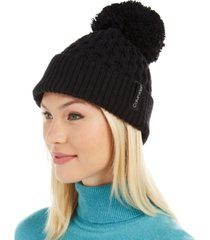 calvin klein solid cable beanie