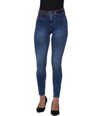 jeans tiro alto high waist skinny 3036 azul amalia jeans