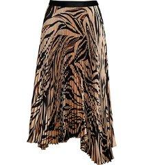 bailey 44 women's logan tiger-print asymmetric pleated midi skirt - camel multi - size xs