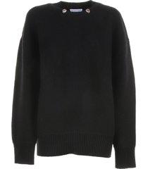 bottega veneta jumper in black wool