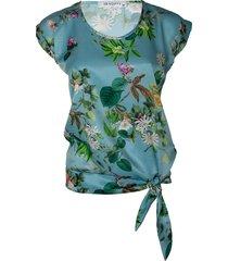 srndpty top shortsleeve wendy flowergarden blauw