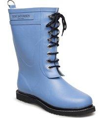 3/4 rubberboot regnstövlar skor blå ilse jacobsen