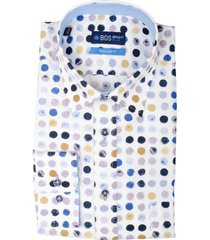 bos bright blue ward shirt casual hbd 20307wa49bo/500 multicolour