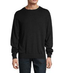 helmut lang men's logo sweatshirt - ivory - size s