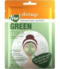 máscara facial dermage - green mask sache 10g