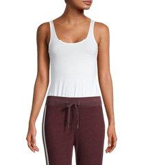 n:philanthropy women's scoopneck cotton bodysuit - white - size xs