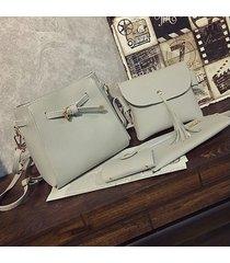 bolsos de mujer,bolso bandolera, hombro de borla de-gris