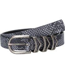 cinturón cuero mujer snake negro zappa