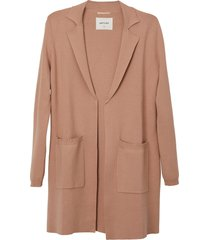matt & nat parkes womens open front cardigan, blush