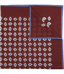 bandana ink jet pattern cotton pocket square