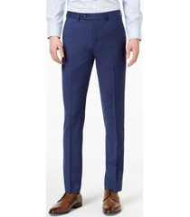 calvin klein men's extra-slim fit infinite stretch blue twill suit pants
