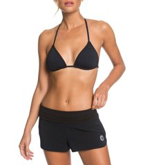roxy endless summer swim shorts, size xx-large in anthracite at nordstrom
