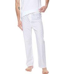 pantalón pijama blanco-rojo colore