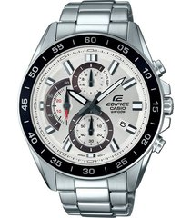 reloj casio efv-550d-7a para caballero plateado/ negro
