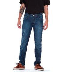 calça jeans lost denim slim blue black masculina