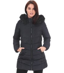 womens minea quilted hooded coat