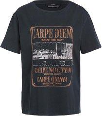 t-shirt met opdruk faya  zwart