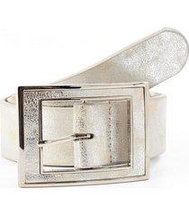 cinturon hebilla rectangular forrada plata mailea