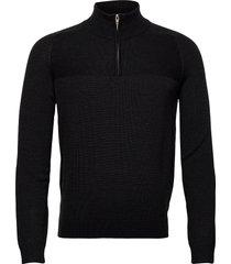 bs pivert knitwear half zip jumpers svart bruun & stengade