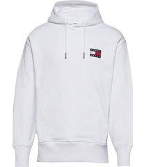 tjm tommy badge hoodie hoodie trui wit tommy jeans