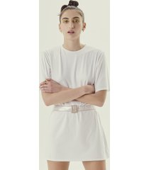 t-shirt long mely white