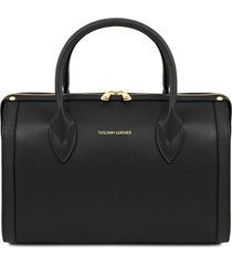 tuscany leather tl141829 elena - bauletto in pelle nero