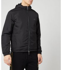 emporio armani men's allover print jacket - black - xl
