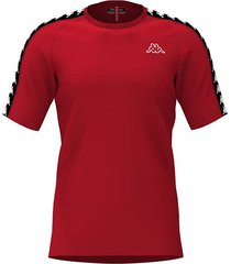 camiseta kappa coen - rojo/negro