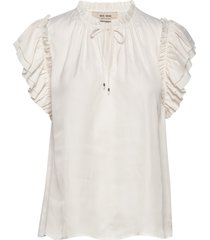 tea africa blouse ss blouses short-sleeved crème mos mosh