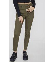 jeans color skinny básico ii militar  corona