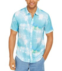 guess men's rogan splatter graphic shirt