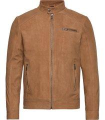 slh c-01 classic suede jacket w leren jack leren jas bruin selected homme