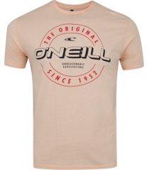 camiseta o'neill estampada 2932a - masculina - pessego