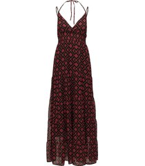 erica long dress ao18 maxi dress galajurk rood gestuz