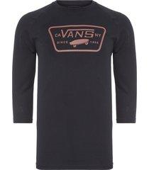 t-shirt masculina full patch raglan - preto