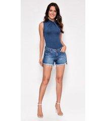 shorts jeans zait hot pants kamily - feminino