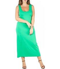 24seven comfort apparel women's plus size racerback maxi dress