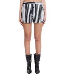laneus shorts in white viscose