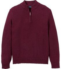 pullover con cerniera (rosso) - bpc bonprix collection