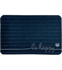 capacho carpet be happy azul único love decor