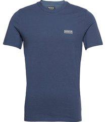 b.intl small logo tee t-shirts short-sleeved blå barbour