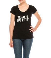 kendall + kylie v-neck cap sleeve t-shirt