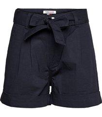 tjw mom belted short shorts paper bag shorts blå tommy jeans