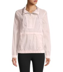 marc new york performance women's popover windbreaker jacket - pink - size xs