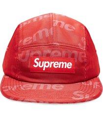 supreme lenticular logo camp cap - red