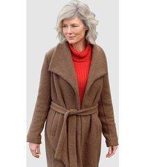 mantel dress in bruin