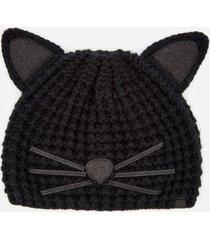 karl lagerfeld women's choupette luxury beanie - black