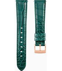 cinturino per orologio 17mm, verde, placcato color oro rosa