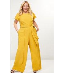 lane bryant women's lena seamed wide leg jumpsuit 26 golden spice