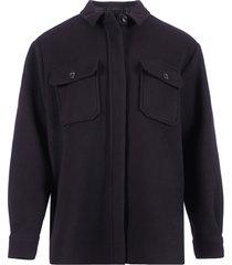 closed blousejas zwart